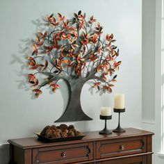 Shimmering Tree Metal Wall Art Sculpture And Walls