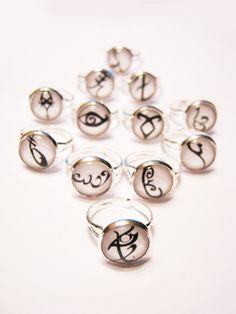Mortal Instruments Rune Silver Ring