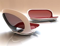 Sit down & relax...on an enlarged sunglasses case. Nice design with shine though.