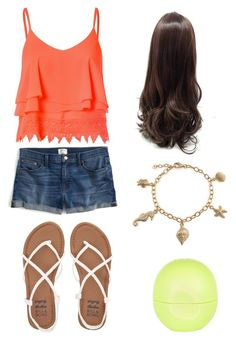 """""""summer time"""" by mayaandrews88 on Polyvore featuring Glamorous, J.Crew, Billabong, Bling Jewelry and River Island"""