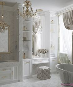 Bathroom Design Luxury, Home Interior Design, Beautiful Bathrooms, Bathroom Renovations, Luxury Homes, Bedroom Decor, House Design, Blessed Friday, Home Decor