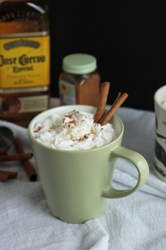 Spiked Mexican Hot Chocolate: Spike your hot chocolate with some tequila, cayenne pepper and agave and hunker down with your sweetie. #recipes #chocolate #drinks