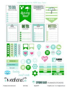 """Hello blog followers and visitors! Happy Friday! I hope you are excited about the weekend and are ready for your next """"pretty planning"""" session in your Happy Planner. Today, I am releasing planner stickers made specifically for Happy Planners by Me and My Big Ideas. Since spring is fast approaching, I thought I would share … Continue reading Spring Rain Planner Stickers – Free Printable →"""