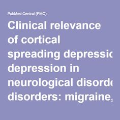Clinical relevance of cortical spreading depression in neurological disorders: migraine, malignant stroke, subarachnoid and intracranial hemorrhage, and traumatic brain injury