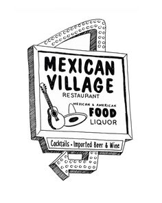 Mexican Village, Detroit Giclee Print 8x10 by citybird on Etsy https://www.etsy.com/listing/124934012/mexican-village-detroit-giclee-print
