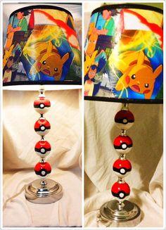 Pokemon Inspired lamp by SpiritWolfsCreations on Etsy