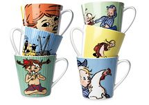 I'm loving these Pippi and Emil mugs! By Rörstrand.