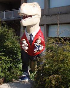 Pittsburgh Mister Rogers Dinosaur-Shadyside neighborhood of Pgh outside WQED