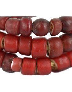 Red Whiteheart Venetian Trade Beads Rare 32 Inch Chevron, African Trade Beads, Venetian Glass, How To Make Beads, Red And White, Glass Beads, Fruit, Etsy, Jewellery