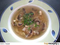 Nedeľná šampiňónová polievka
