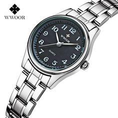 WWOOR Fashion Women Quartz Watches Relogio Feminino Brand Luxury Woman Stainless Steel Band Casual Wristwatch Waterproof Clock. Yesterday's price: US $67.96 (56.11 EUR). Today's price: US $16.99 (13.96 EUR). Discount: 75%.