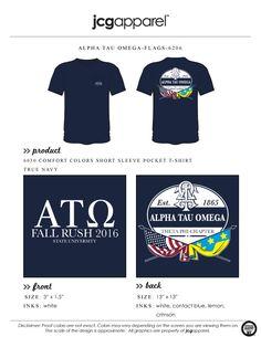JCG Apparel : Custom Printed Apparel : Alpha Tau Omega Fall Rush T-Shirt #alphatauomega #fall #rush #recruitment #greek