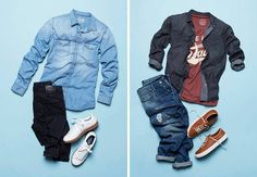 Two ways to style the denim shirt - What's your favorite look?   For more details about the items, pass by your nearest JACK & JONES store.