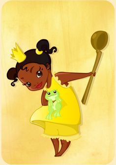 Little Tiana and the frog by ~MadEye01 on deviantART