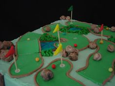 Mini Golf Cake My Cakes Pinterest Cake Birthday cakes and
