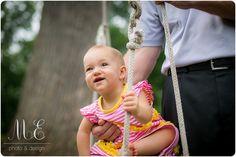 Little Girl Swing Portrait | Swarthmore, PA Family Photographer