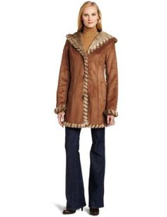 Jones New York Women's Hooded Suede Jacket $175.00