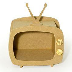 Cardboard Frames, Tv Retro, Center Table, Diy Frame, Bar Ideas, Tvs, Party, Miniature Furniture, Mickey Party