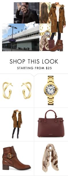 """""""Royal Crossover: Flying to Riga with Victoria for the civil wedding of Princess Dana of Latvia and Crown Prince Felix of Iceland"""" by swedish-princess ❤ liked on Polyvore featuring Georg Jensen, Dlux, Burberry and Chloé"""