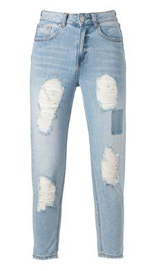 Rennot mom-farkut ovat vapaapäivän viettäjän paras kaveri. Ohut neulepaita pariksi ja a vot! 39,95€ Mom, Fitness, Pants, Fashion, Trouser Pants, Moda, Fashion Styles, Women's Pants, Women Pants