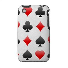 playing card phone case. very harlequin-esque..