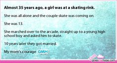 Almost 35 years ago, a girl was at a skating rink.