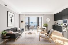 Flat in Auckland City - Gallery City Gallery, Auckland, Lounge, Interior Design, Apartments, Furniture, Interiors, Flat, Home Decor