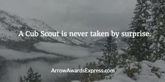 A Cub Scout is never taken by surprise. | Cub Scout Quotes
