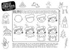 Free download; teken zelf stap voor stap een Hulppietje! #sinterklaas #tekenworkshop Studio Stift: voor vrolijke illustraties. Ieder idee begint met een stift!