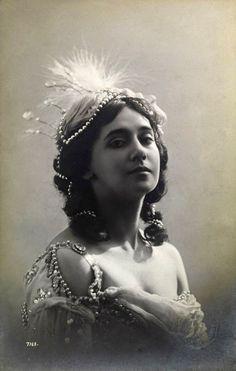 русская балерина  Тамара Карсавина, 1911г