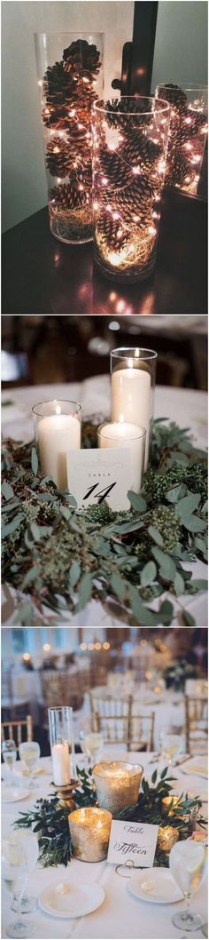 gorgeous winter wedding centerpiece ideas #diy_wedding_winter