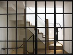 Crittall screens to staircase by DO Design Studio