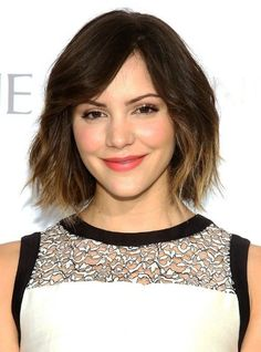 ombre bob with bangs?