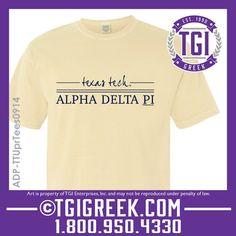 TGI Greek - Alpha Delta Pi - PR - Comfort Colors  #tgigreek #alphadeltapi