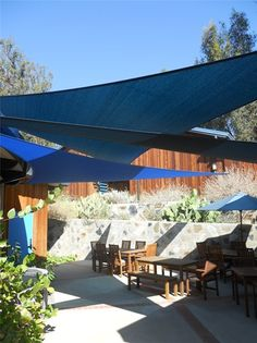 Large Patio With Modern Shade Cover Patio Landscaping Network Calimesa, CA