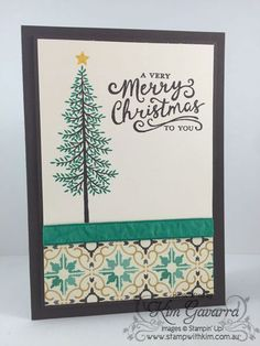 Thoughtful Branches Christmas Card. Stampin' Up! Australia www.stampwithkim.com.au
