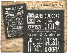 BaBy Q  baby shower  barbecue baby shower by 2birdstudios on Etsy, $20.00