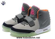 New Gray Orange Nike Air Yeezy II Men Shoes