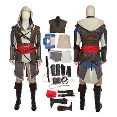Item Edward Kenway Costume Assassin's Creed IV Black Flag Cosplay Full Set On Sale! Edward Kenway Costume, Edwards Kenway, Game Costumes, Mephisto, Cosplay Dress, Womens Size Chart, Assassin's Creed, Full Set, Item Number