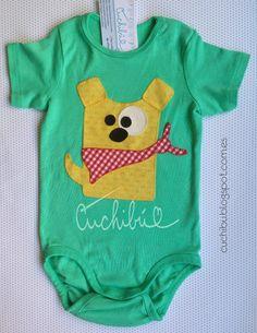 #Bodies coloridos para #bebés decorados con aplicaciones de tela bordadas a mano. #Handappliqué #Babyonesies #Babygift #Babyshower cuchibu.blogspot.com.es