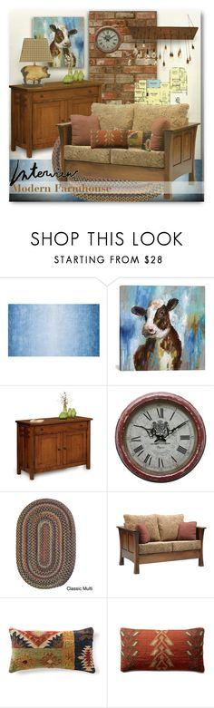 """""""Modern Farmhouse"""" by esch103 ❤ liked on Polyvore featuring interior, interiors, interior design, home, home decor, interior decorating, iCanvas, DutchCrafters, Yosemite Home Décor and Colonial Mills"""