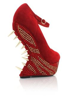 247fe078d07 My Kinky Foot - A Fetish Footwear Store  Lady GaGa Shoes  Spiked  Embellished Heel-Less Platforms