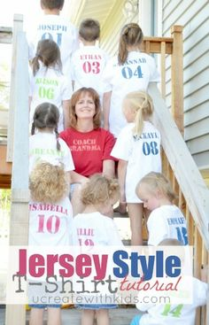 Each grandkid gets his/her birth order # t-shirt! Great for family reunions or other gatherings!