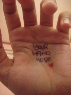 Too cute. #hand #heart
