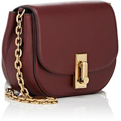Marc Jacobs West End The Jane Saddle Bag ($850) ❤ liked on Polyvore featuring bags, handbags, shoulder bags, leather man bag, hand bags, red leather handbag, leather saddle bags and burgundy leather handbag