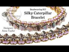 Make a Silky Caterpillar Bracelet - YouTube from Potomac Bead Company (www.potomacbeads.com)