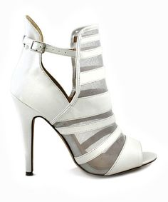 Look what I found on #zulily! White Roxanne Peep-Toe Bootie by Liliana Footwear #zulilyfinds