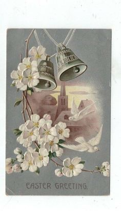 ANTIQUE 1912 EMBOSSED Easter Post Card Silver Foil Doves Bells White Flowers - EUR 1,75 | PicClick IE Spring Flowers, White Flowers, Easter Banner, Easter Wishes, Post Card, Cute Bunny, Daffodils, Happy Easter, Antiques
