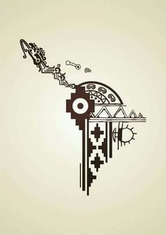 Diseño aborigen Mayan Tattoos, Mexican Art Tattoos, Indian Tattoos, Inka Tattoo, Peru Tattoo, Latina Tattoo, Aztec Symbols, Viking Symbols, Egyptian Symbols