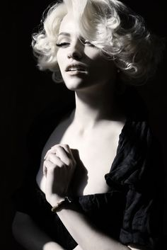Ginta Lapina channeling Marilyn Monroe